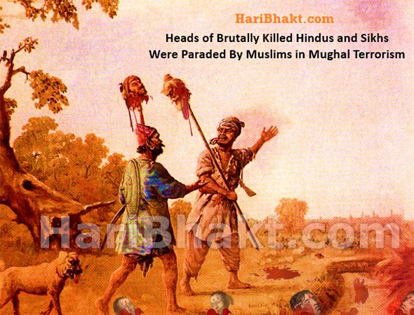 Mughal terrorism killed crores of Hindus