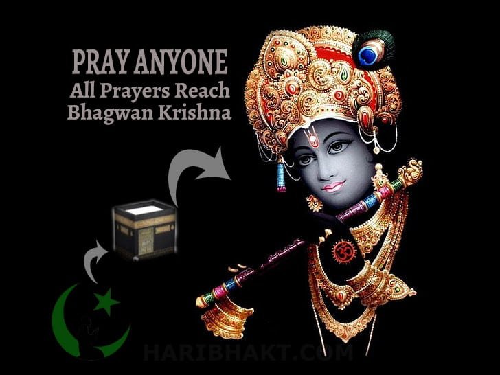 Bhagwan Krishna receive Allah Devil Pisach Asura Prayers